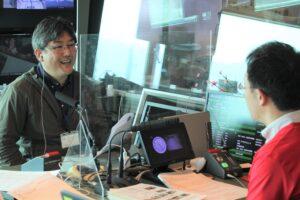 YBSラジオ「ラララ♪モーニング」に当会まちづくり部長 柳場が出演しました。